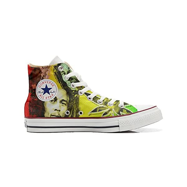 Converse Personalizados All Star Customized – Zapatos Personalizados (Producto Artesano) con Bob Marley