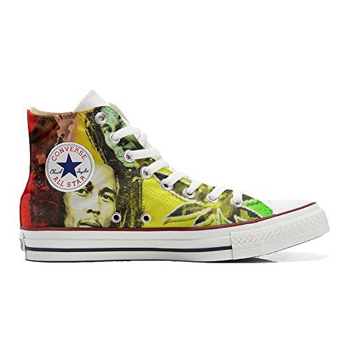 Converse Customized Adulte - chaussures coutume (produit artisanal) avec Bob Marley