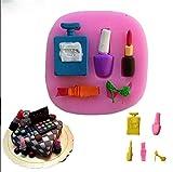 Hacoly Formen aus Silikon Backen Silikonformen Kosmetik Lippenstift Parfüm 3D Formen Silikon Weihnachten Halloween Für Eiswürfel Kuchen Muffins Handgefertigte Seife Kekse Schokolade
