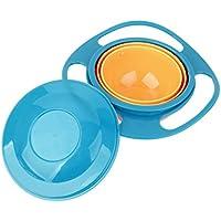 Masterein Gamelle anti-renversement pour enfant Gyro Bol rotatif à 360° pour bébé enfants Évitez les aliments renverser