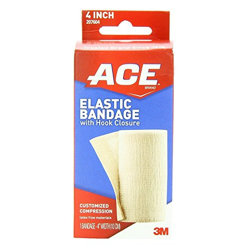 Ace Ace Elastic Bandage With Hook Closure 4 Inches, 4 Inches 1 each