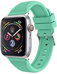 Watch Strap,Hengzi New Fashion Waterproof Sports Soft Silicone Replacement Watch Band Strap for Apple Watch Series 4 44MM