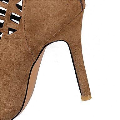 LvYuan Sandali-Formale Casual-Comoda-A stiletto-Felpato-Nero Marrone Rosso Grigio light brown