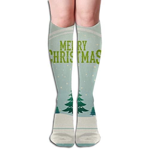 HVCMNVB Tube High Keen Sock Boots Crew Merry-Christmas-Snow-Globe 2560x1600 Compression Socks Long Sport Stockings -