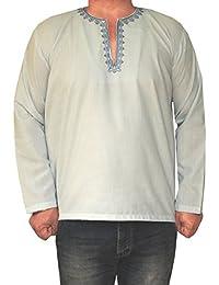 Maple Clothing Shirt Brodé Mens Court Kurta Coton Mode Inde Vêtements
