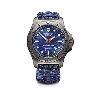 Victorinox I.N.O.X. Professional Diver Titanium Cuarzo – Reloj (Reloj de pulsera, Masculino, Titanio, Negro, Tela, Azul)