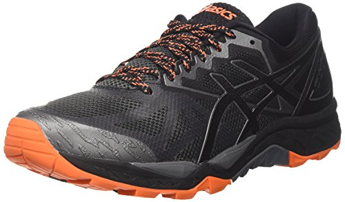 Foto de Asics Gel-Fujitrabuco 6, Zapatillas de Gimnasia Hombre, Gris (Carbon/Black/Hot Orange), 44 EU