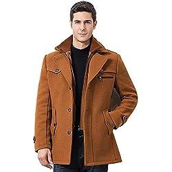 Homme Blousons À Capuche Manches Longues Doudoune Manteau Veste Hiver Chaud, QinMM Zipper Pouche Rétro Vintage Elégant Business Tops
