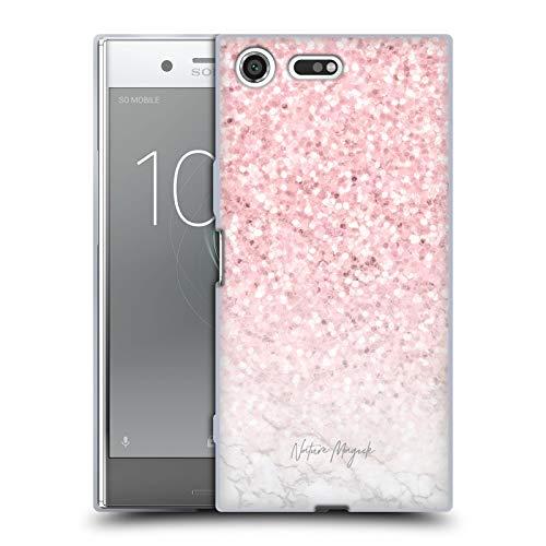 fizielle Nature Magick Pink Funkel Rosa Gold Marmor Glitzer Soft Gel Huelle kompatibel mit Sony Xperia XZ Premium ()