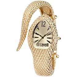 Just Cavalli Poison Women's Quartz Watch with Black Dial Analogue Display and Silver Stainless Steel Strap R7253153517