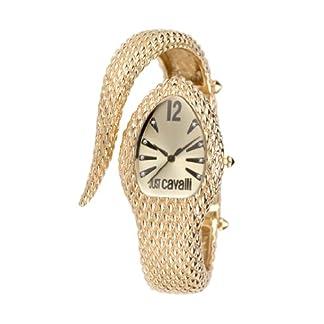 Just Cavalli R7253153517 – Reloj analógico de cuarzo para mujer con correa de acero inoxidable, color dorado
