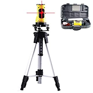 360° Rotary Laser Level,Self-Levelling Cross Line Measuring,Tripod Stand & Case