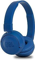 JBL T450BT On-Ear Bluetooth-Kopfhörer - Kabellose Ohrhörer mit integriertem Headset - Bis zu 11 Stunden Musik streamen mit nur einer Akku-Ladung Blau