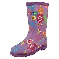 Spot On Womens/Ladies Floral Rubber Wellington Boots