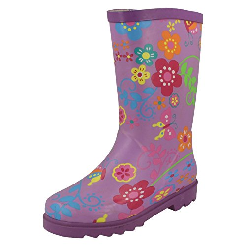 Spot On Womens/Ladies Floral Rubber Wellington Boots