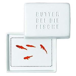 Breakfast Butterdose, klein Butter bei die Fische, Platte: 10 x 8 x 1 cm...