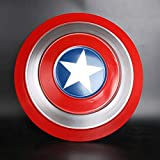 FAVELA 32Cm Captain America Basic Printed Shield (Red and Blue)