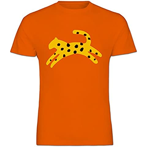Retro African de serie de dibujos animados de guepardo Diseño de chica con algodón infantil con forma de Boy de manga corta para T-camiseta de manga corta - Tamaños 1 año Old - 14 años