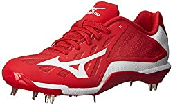Mizuno Mens Heist IQ Baseball Cleat Red / White 14 D(M) US