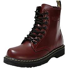Minetom Donna Autunno Inverno Lace Up Pelliccia Neve Stivali Snow Boots Antiscivolo Impermeabile Stivali Cavaliere Martin Stivali