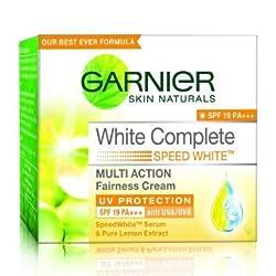 arnier Skin Natural White Complete Multi Action Fairness Cream SPF 19 PA+++ (18g) (Pack of 2)