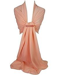 GFM Chal estilo Georgette, chal de noche, para boda, dama de honor (GS)