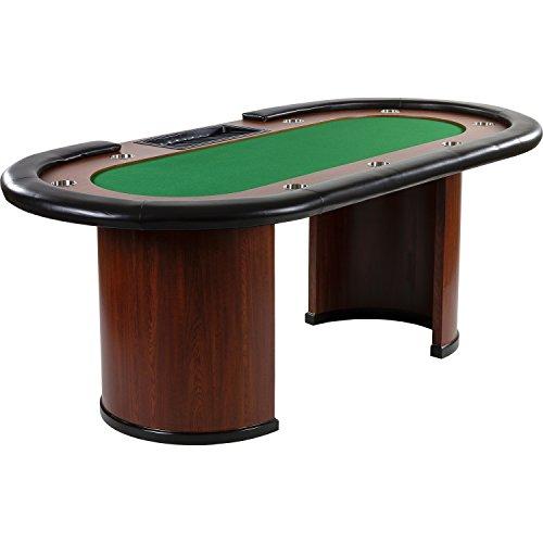 Maxstore Pokertisch ROYAL Flush, 213 x 106 x75 cm, Farbwahl, Gewicht 58kg, 9 Getränkehalter, gepolsterte Armauflage