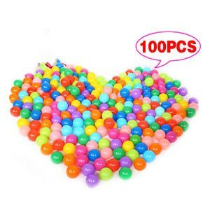 Tradico® TradicoBrand New 100x Multi-Color Cute Kids Soft Play Balls Toy for Ball Pit Swim Pit Ball Pool P