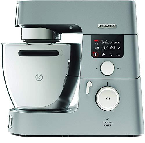 Kenwood Cooking Chef KCC9060S - Robot de Cocina por Inducción (20 - 180º), 1500W, Pantalla LCD, Bol 6.7L, Incluye Batidora de Vaso ThermoResist, Procesador de Alimentos y Pack Accesorios Inox Premium