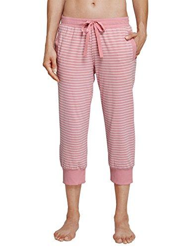 Schiesser Damen Schlafanzughose Mix & Relax Jerseyhose 3/4 Lang Rot (Sorbet 524), 46 (Jersey Gerippte Herrliche)