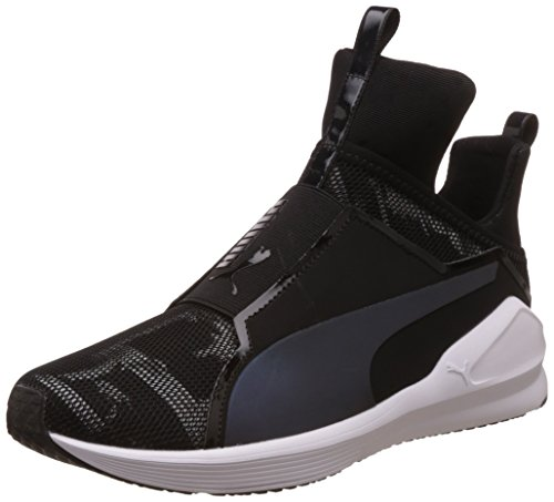Puma Fierce Swan Wn's, Scarpe Sportive Indoor Donna Nero (Puma Black-puma White 01)