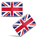 Biomar Labs 2 x 3D Flexibles Autocollant Stickers National Drapeaux Royaume-Uni UK Union Jack F 32