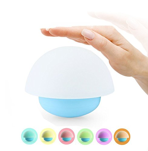 Veilleuse Lampe de Chevet Tactile Multi Color Night Light de Forme Champignon Culbuto Jouet Couleur Changeable Lampe de Nuit pour la Chambre Nursery d'Enfant - Bleu (avec Piles ou câble USB)