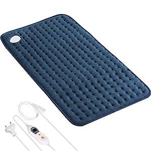Heizkissen Wärmekissen Elektrisch 30 * 60cm für Rücken Nacken Schulter Bauch Beine Muskelverspannung