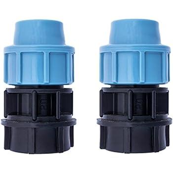 2 x MDPE PE acqua di plastica riduttore di compressione per tubi 3//4 x 20 mm