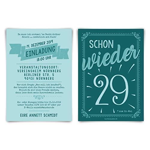 rtstag individuelle Einladungskarten Einladungen - schon wieder 29 ()