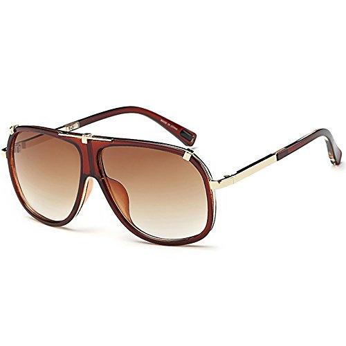 SHEEN KELLY Retro Sonnenbrille Pilot Metall Rahmen für Männer Frauen Klassische Sonnenbrille UV400 Schutz Schrittweise