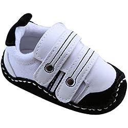 Tefamore Zapatos bebe de bajos de deporte de antideslizante de solo suave de moda invierno de calentar (Tamaño: 11, Blanco)
