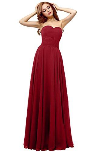 Promgirl House - Robe - Trapèze - Femme Rouge - Rouge bordeaux