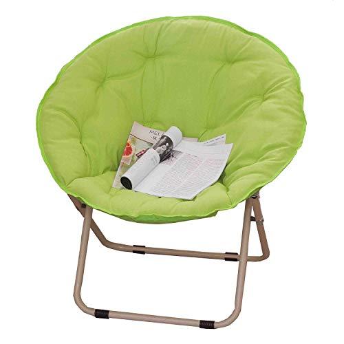 KHL Hochwertige Mond Klappstuhl, Einfache Multifunktionale Sonnenliege Lazy Chair, Liege, Klappstuhl, Sofa Stuhl (Farbe : Grün)