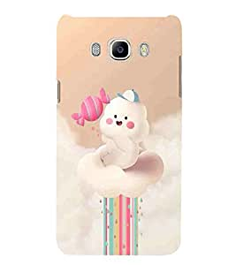 For Samsung Galaxy J7 (6) 2016 :: Samsung Galaxy J7 2016 Duos :: Samsung Galaxy J7 2016 J710F J710Fn J710M J710H cute bear and teddy with toffy, teddy with toffy Designer Printed High Quality Smooth Matte Protective Mobile Case Back Pouch Cover by APEX