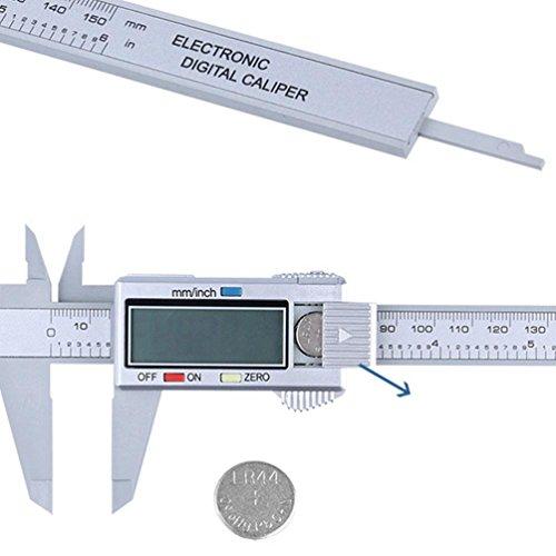 Bovake 150mm / 6 zoll LCD Digital Elektronische Kohlefaser Messschieber Mikrometer