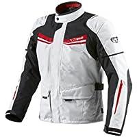 Veste de moto Blouson de moto imperméable avec armure Blanc