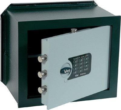 Viro Cassaforte elettronica di sicurezza 'PRIVACY' orizzontale da incasso 290x410x205