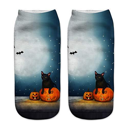 Halloween Party Set Halloween Muster Socken 5089 Modelle Eine Größe 1 Paar für Festival Cosplay Halloween Kostüm