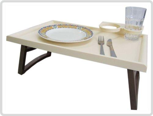 Bett-Tisch, braun-beige