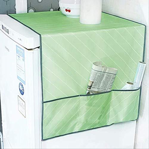 KWOSJYAL Trommelwaschmaschinen-Abdeckungs-Köper, wasserdichte Kühlschrank-Staubschutzhaube des Haushalts mit Speicher-Taschen-Küchen-Waschmaschinen-Teil-Versorgungsmaterial-Grün