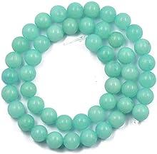 15Inch Cadena de Abalorios Redondos Piedras Preciosas Sueltas Accesorio para Bisutería Azul 8mm