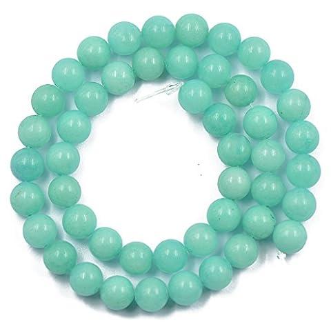 Blau Amazonite Jade Edelstein runde lose Perlen Gemstone 8mm