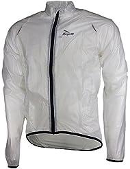 Rogelli ciclismo para hombre Chaqueta impermeable Crotone Transparente transparente Talla:xxxx-large